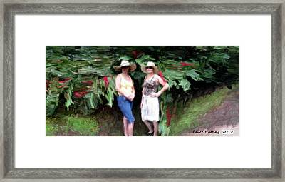Framed Print featuring the painting Victoria And Friend by Bruce Nutting