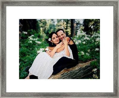Victoria And Her Man Of God Framed Print by Bruce Nutting