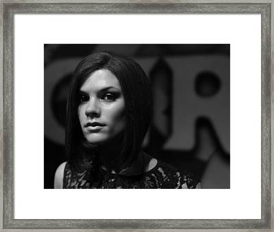 Victoria Beckham Framed Print by Lee Dos Santos