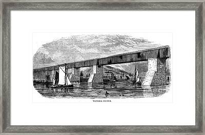 Victoria Bridge - Quebec - 1878 Framed Print