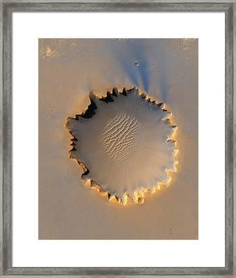 Victoria Crater Mars Framed Print
