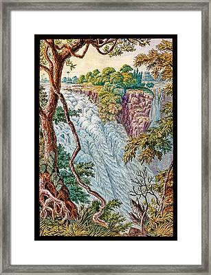 Victoria Falls And Island Framed Print by Gustoimages/science Photo Libbrary