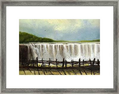Victoria Falls Framed Print