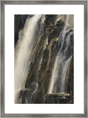 Victoria Falls Dry Season Zambia Framed Print by Ch'ien Lee