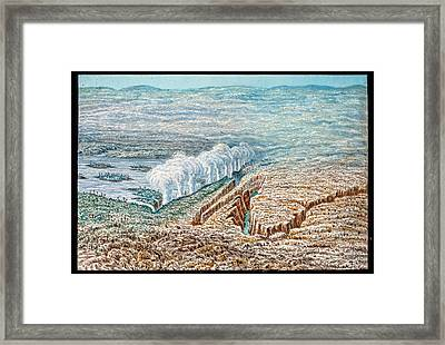Victoria Falls Framed Print by Gustoimages/science Photo Libbrary