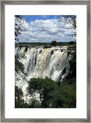 Victoria Falls On The Zambezi River Framed Print by Aidan Moran