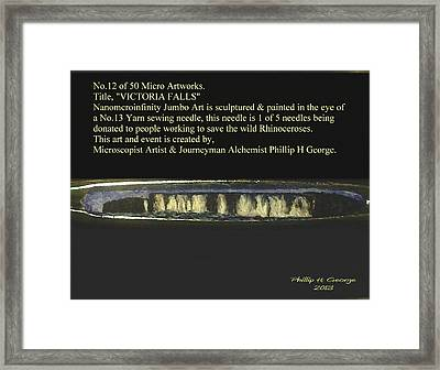 Victoria Falls  Framed Print by Phillip H George