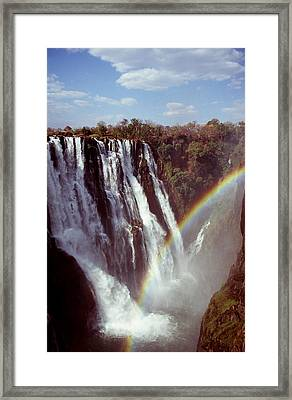 Victoria Falls Rainbow Framed Print by Stefan Carpenter
