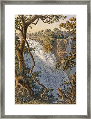 Victoria Falls The Leaping Water Framed Print by Thomas Baines