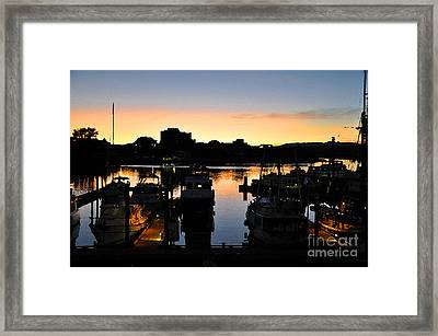 Framed Print featuring the digital art Victoria Harbor Sunset 3 by Kirt Tisdale
