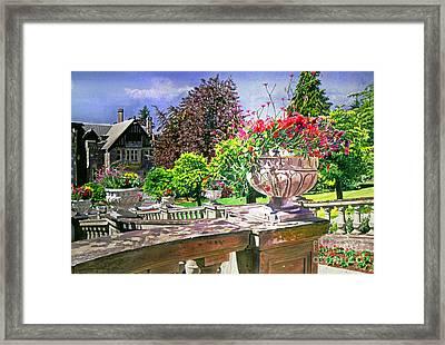 Victoria - Hatley Castle Framed Print by David Lloyd Glover