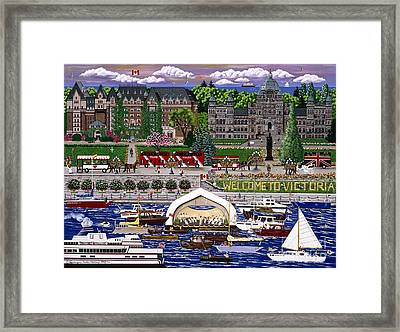 Framed Print featuring the painting Victoria  by Jennifer Lake