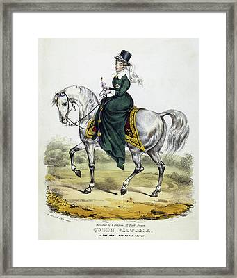 Victoria Of England, C1837 Framed Print by Granger