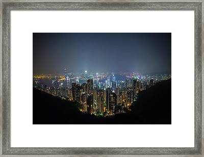 Victoria Peak Framed Print by Mike Lee