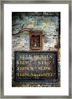 Victorian Bell Sign Framed Print by Adrian Evans