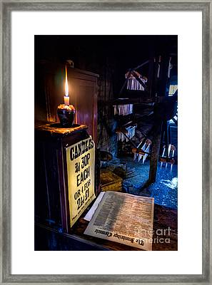 Victorian Candle Shop Framed Print