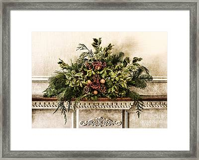 Victorian Christmas Framed Print by Olivier Le Queinec