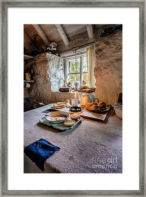 Victorian Cottage Breakfast Framed Print by Adrian Evans