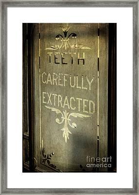 Victorian Dentist Sign Framed Print by Adrian Evans
