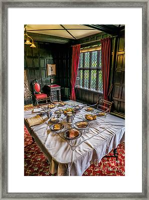 Victorian Dining Framed Print by Adrian Evans