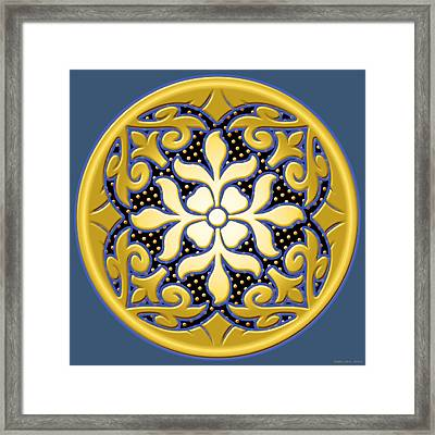 Victorian Door Knob Design Framed Print by Greg Joens