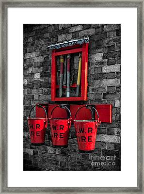Victorian Fire Buckets Framed Print by Adrian Evans