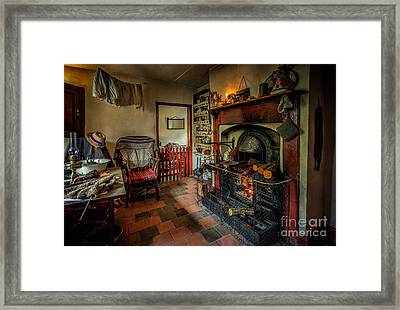 Victorian Fire Place Framed Print by Adrian Evans