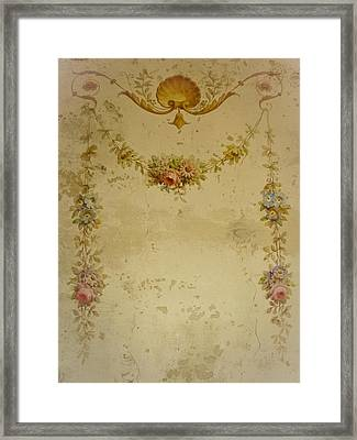 Victorian Floral Swag And Garland Framed Print by Colleen Kammerer