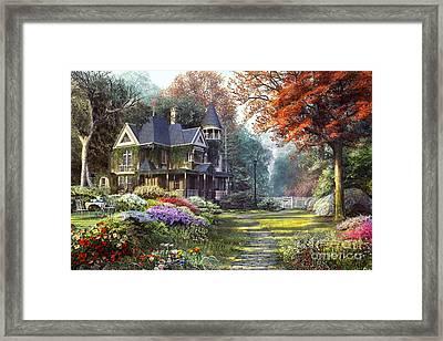 Victorian Garden Framed Print by Dominic Davison