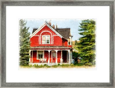 Victorian Home Red Lodge Montana Framed Print by Edward Fielding