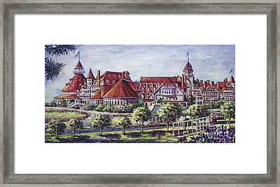 Victorian Hotel Del Framed Print