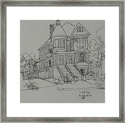 Victorian House Framed Print by Janet Butler