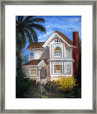 Framed Print featuring the painting Victorian House by LaVonne Hand