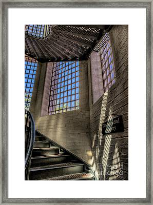 Victorian Jail Staircase Framed Print by Adrian Evans