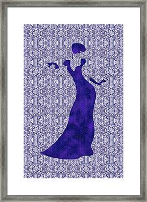 Victorian Lady In Blue Framed Print by Barbara St Jean