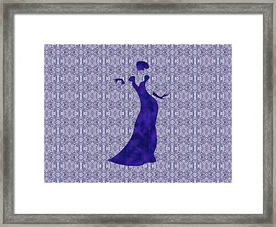 Victorian Lady In Blue For Duvet Framed Print by Barbara St Jean