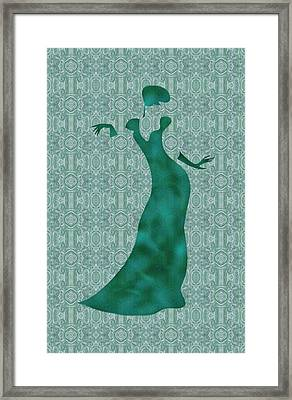 Victorian Lady In Mint Framed Print by Barbara St Jean