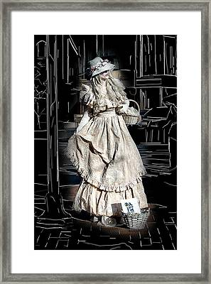 Victorian Lady Framed Print by John Haldane