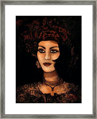 Victorian Lady Framed Print by Natalie Holland