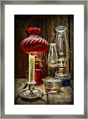 Victorian Lamps Framed Print