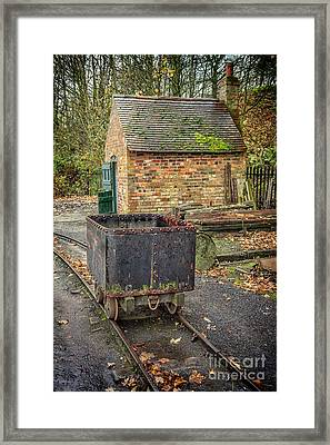 Victorian Mining Cart Framed Print by Adrian Evans