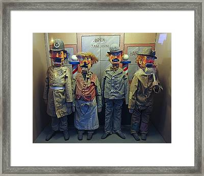 Victorian Musee Mecanique Automated Puppets - San Francisco Framed Print by Daniel Hagerman