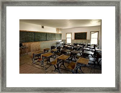 Victorian Old-west Classroom Framed Print