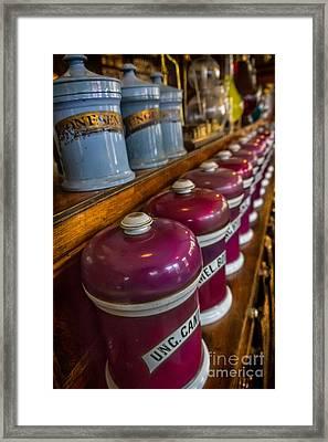 Victorian Pharmacy Framed Print
