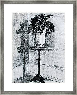 Victorian Plant Stand Framed Print by Anita Dale Livaditis