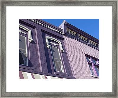 Victorian Purple Framed Print by Ann Horn