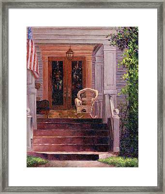 Victorian Rocking Chair Framed Print