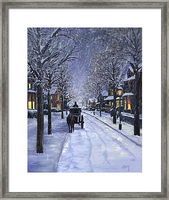 Victorian Snow Framed Print by Alecia Underhill