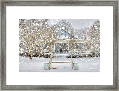 Victorian Snow Fall Framed Print by Benanne Stiens