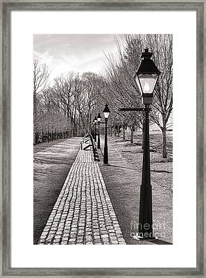 Victorian Street Redux Framed Print by Olivier Le Queinec